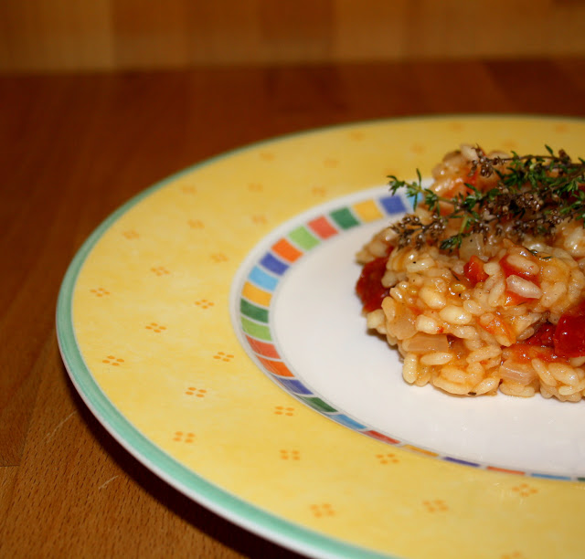 tomaten thymian risotto the vegetarian diaries. Black Bedroom Furniture Sets. Home Design Ideas