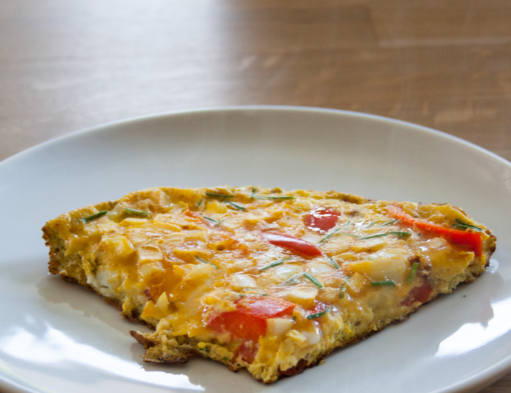 Paprika-Schnittlauch-Omelette - The Vegetarian Diaries