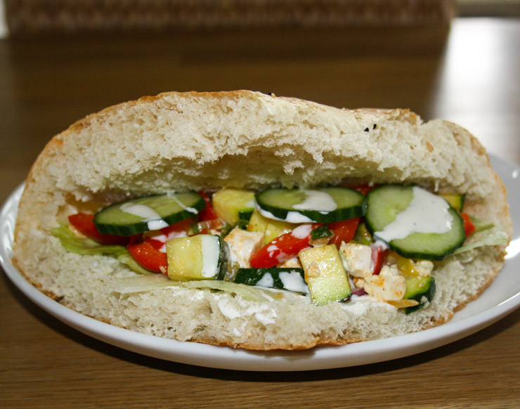 vegetarische Gemüsetasche mit Feta - The Vegetarian Diaries