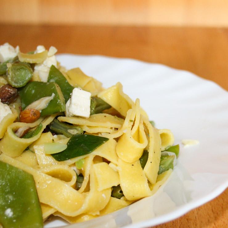 Nudeln mit grünen Bohnen - The Vegetarian Diaries