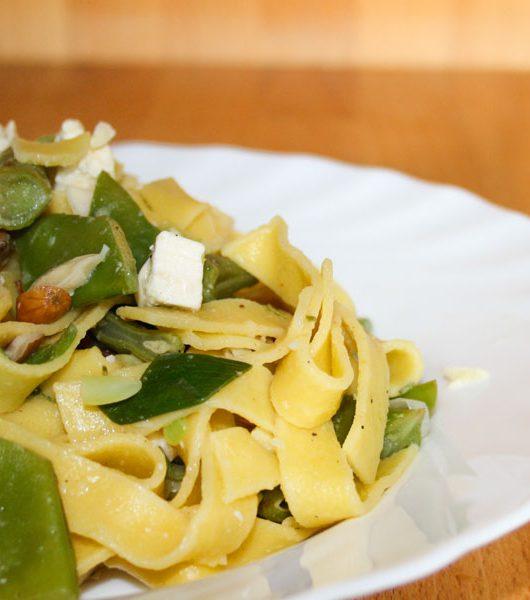 Nudeln mit grünen Bohnen und Feta - The Vegetarian Diaries
