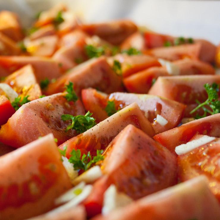 geröstete Tomatensuppe mit Basilikum - The Vegetarian Diaries
