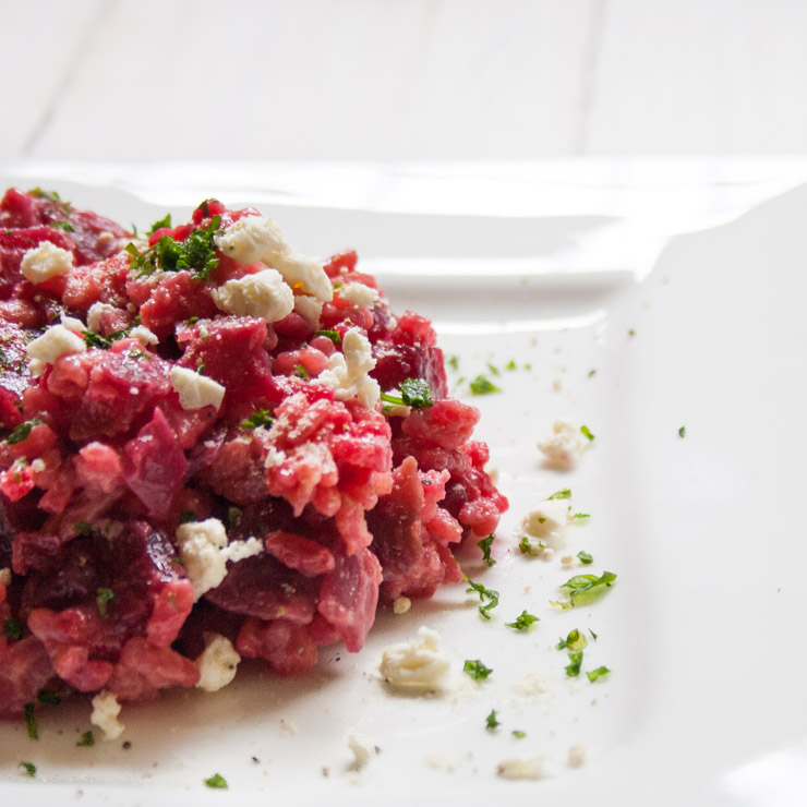 Rote Bete-Risotto mit Feta - The Vegetarian Diaries