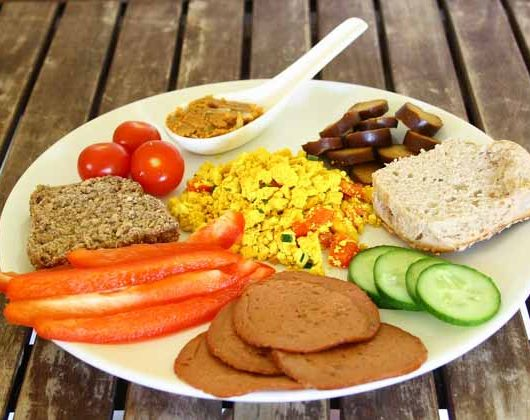 selbst gemachtes, schnelles veganes Brunch - The Vegetarian Diaries