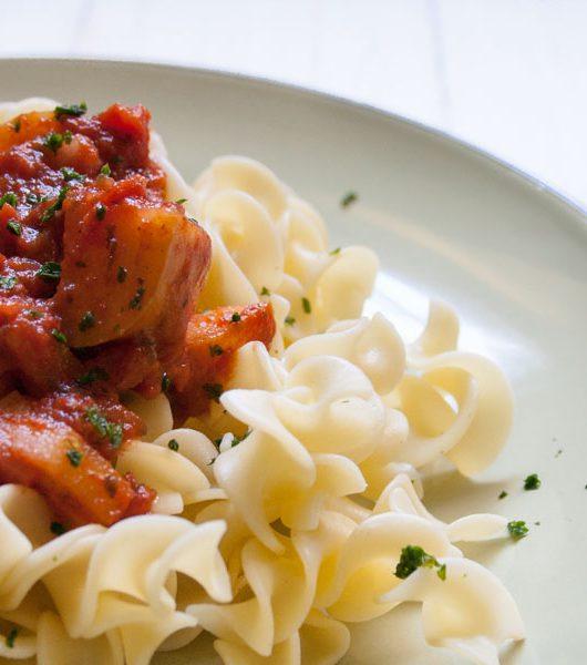 Apfel-Zimt-Sauce mit Nudeln - The Vegetarian Diaries