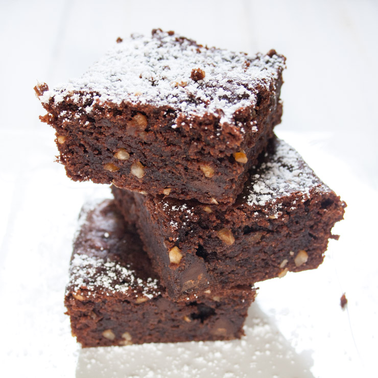 vegan Chocolate-Brownies - The Vegetarian Diaries