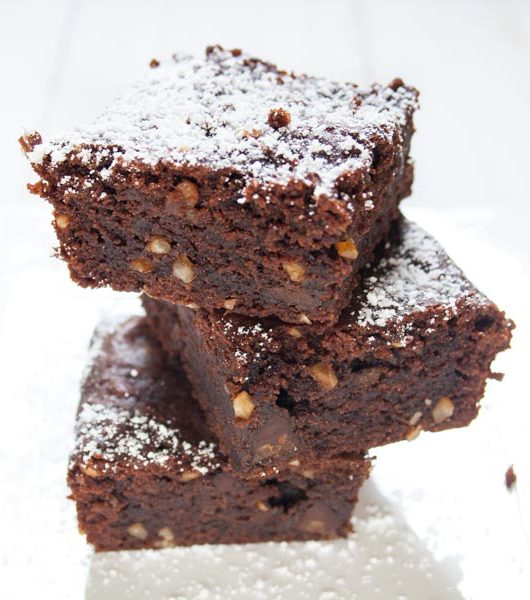 vegane Schokoladen -Brownies - The Vegetarian Diaries