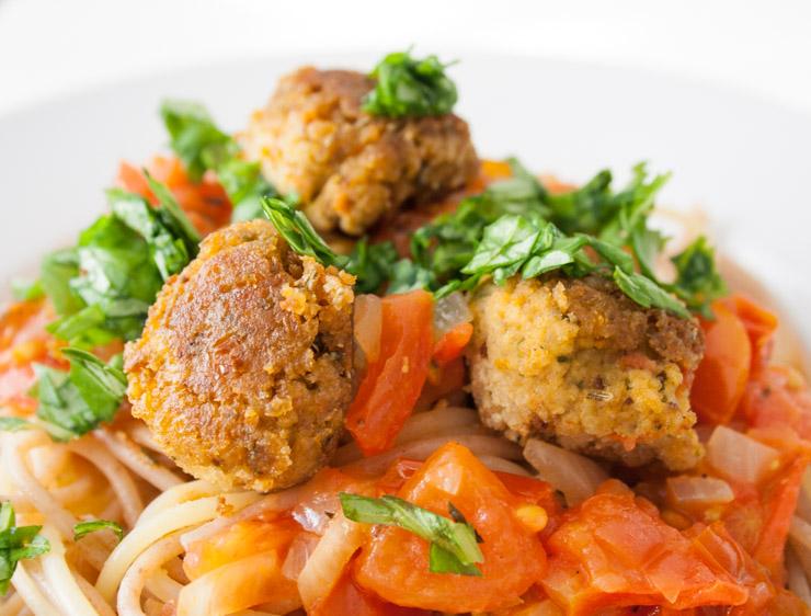 Meatball Spaghetti - The Vegetarian Diaries