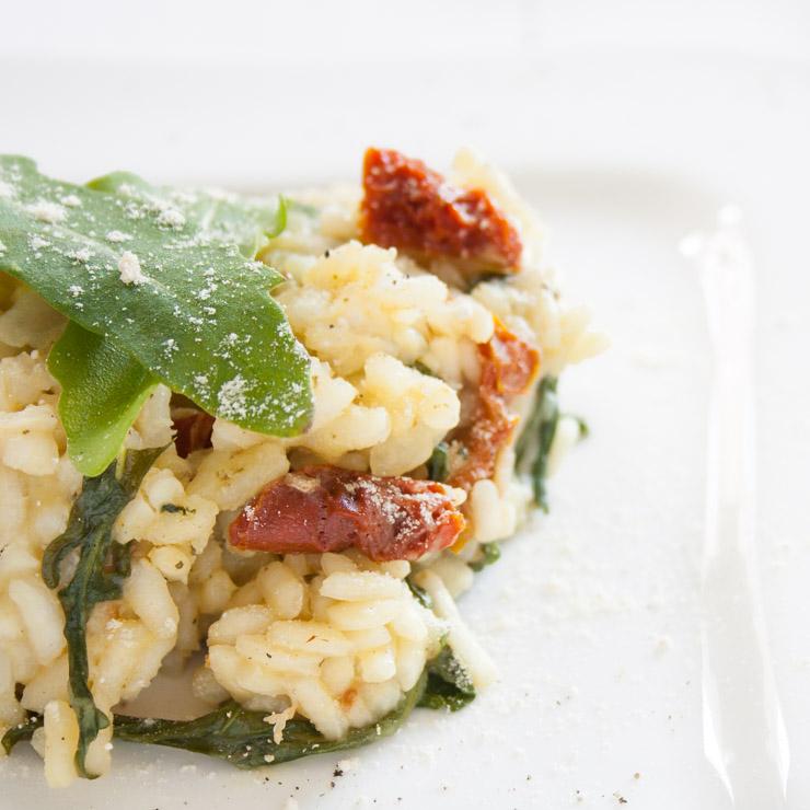 Rucola-Risotto mit getrockneten Tomaten - The Vegetarian Diaries