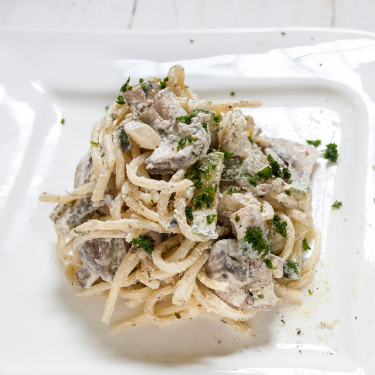 Zucchini-Champignons-Nudeln - The Vegetarian Diaries