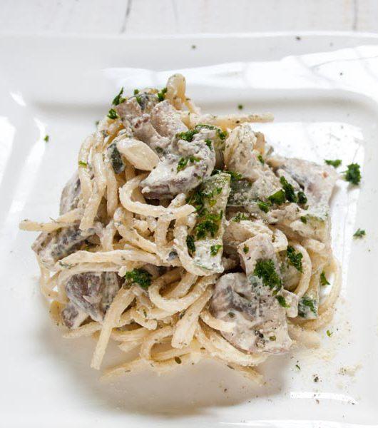 Zucchini-Champignons-Spaghetti - The Vegetarian Diaries