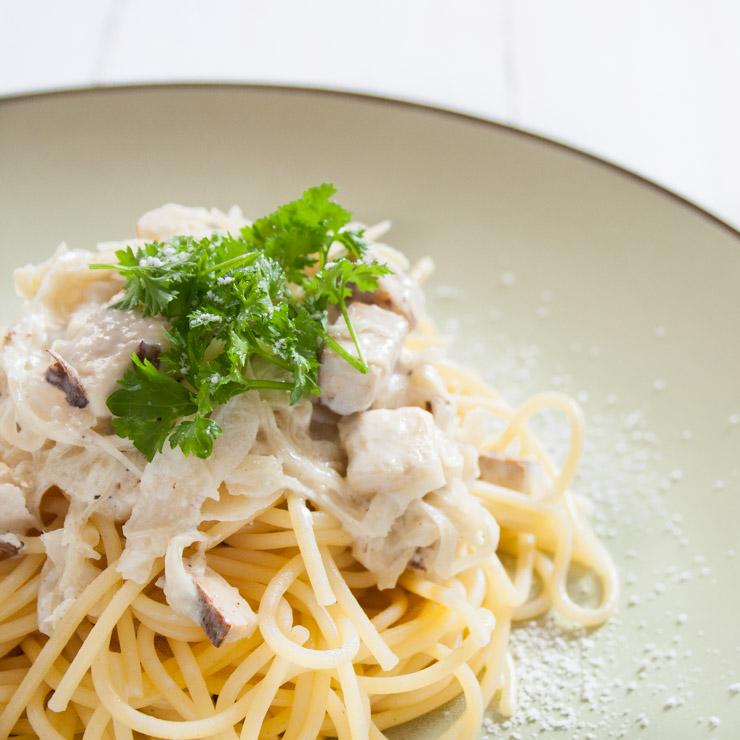 Spaghetti mit Räuchertofu und Sauerkraut - The Vegetarian Diaries