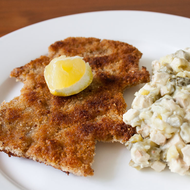 veganes Schnitzel mit Kartoffelsalat - The Vegetarian Diaries