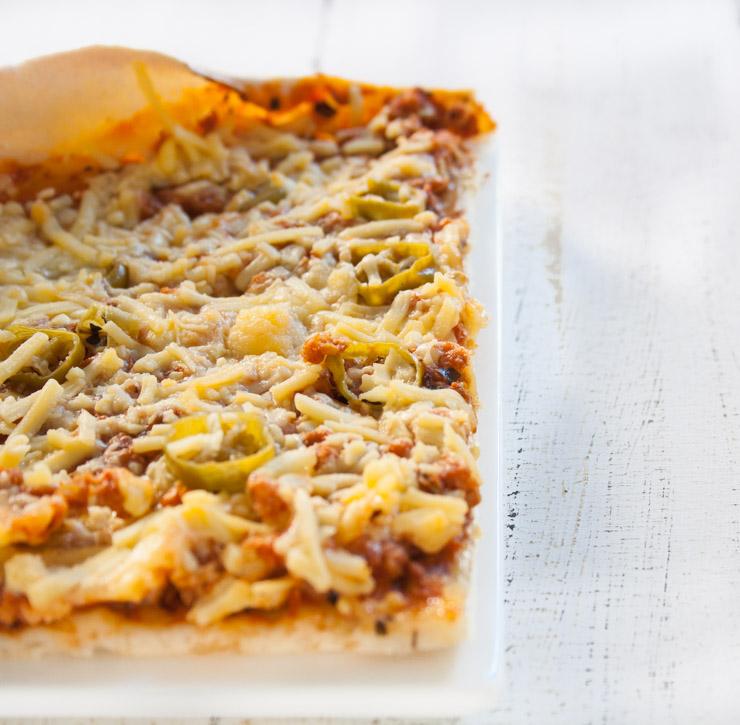 Sojaschnetzel-Pizza mit Pepperoni - The Vegetarian Diaries