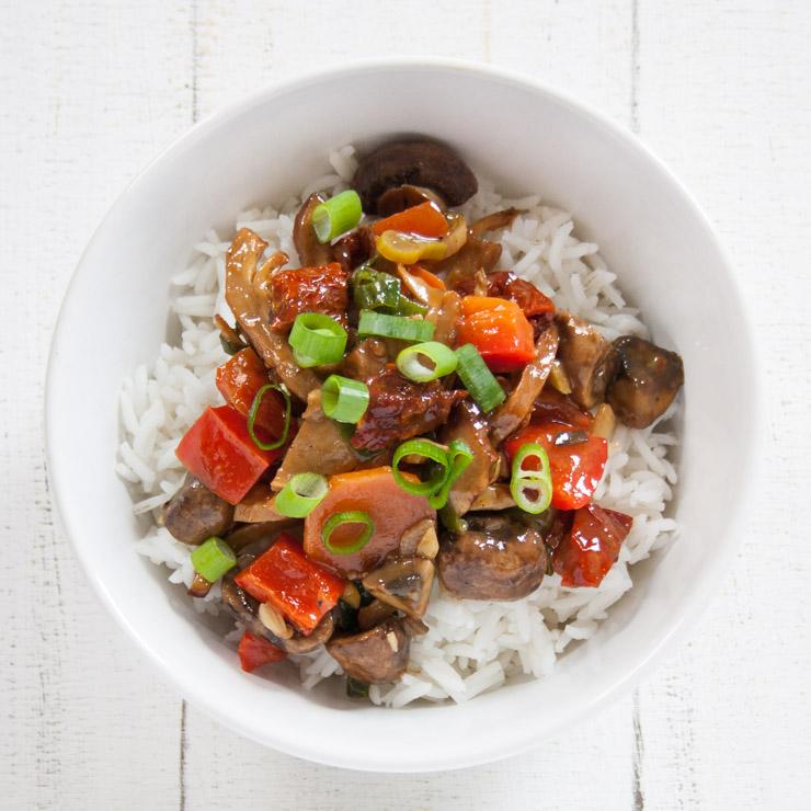 BBQ-Ente mit getrockneten Tomaten - The Vegetarian Diaries
