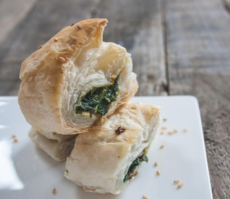 Spinat-Blätterteig Häppchen - Silvester - The Vegetarian Diaries