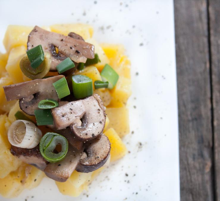 Kartoffel-Risotto mit Champignons - The Vegetarian Diaries