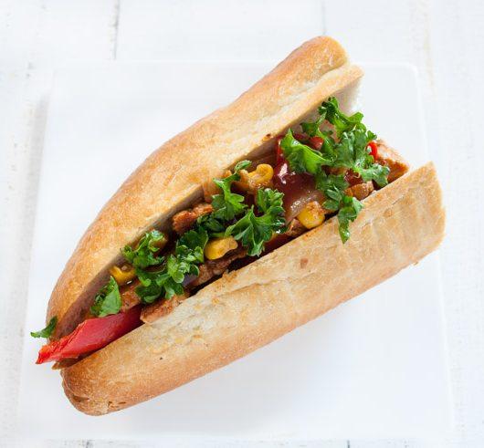 Sandwich mit marinierten Sojamedaillons - The Vegetarian Diaries