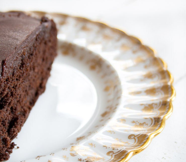 veganer Schoko-Kurchen Sacher Art - The Vegetarian Diaries