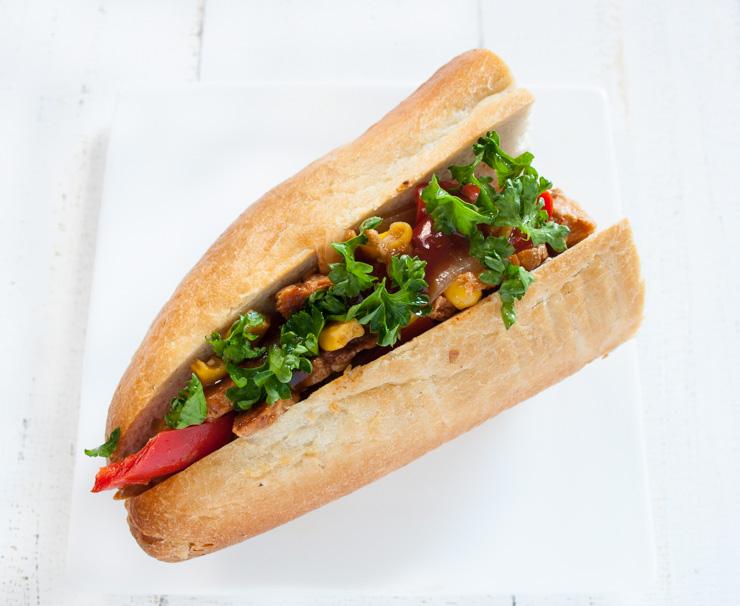 veganes Sandwich mit marinierten Sojamedaillons - The Vegetarian Diaries