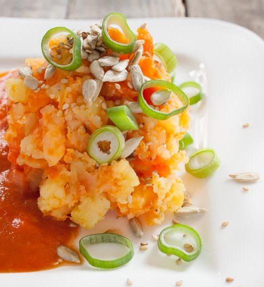 Kartoffel-Möhren-Stampf mit Kokos - The Vegetarian Diaries