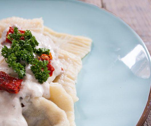 Pilz-Ravioli mit Kokos-Sauce - The Vegetarian Diaries