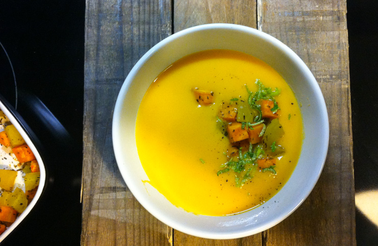 Süßkartoffel-Limetten-Suppe - The Vegetarian Diaries