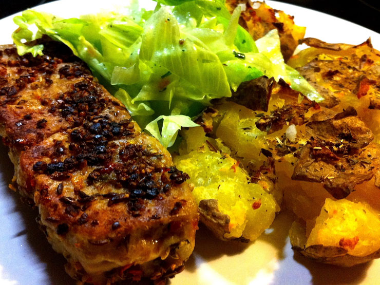 Virginia Steak mit crushed Kartoffeln - The Vegetarian Diaries