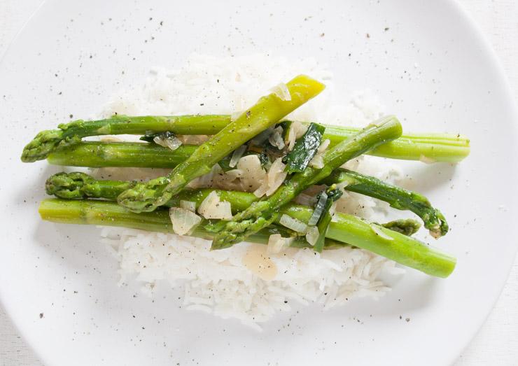 Spargel mit Bärlauch und Reis - Rezept -The Vegetarian Diaries