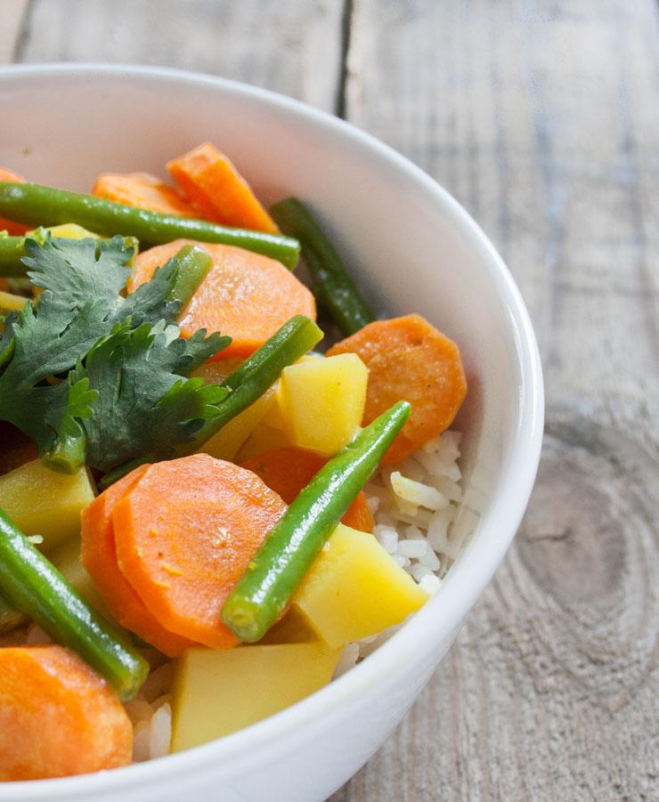 Thai-Curry mit Kokosmilch und grünen Bohnen - The Vegetarian Diaries