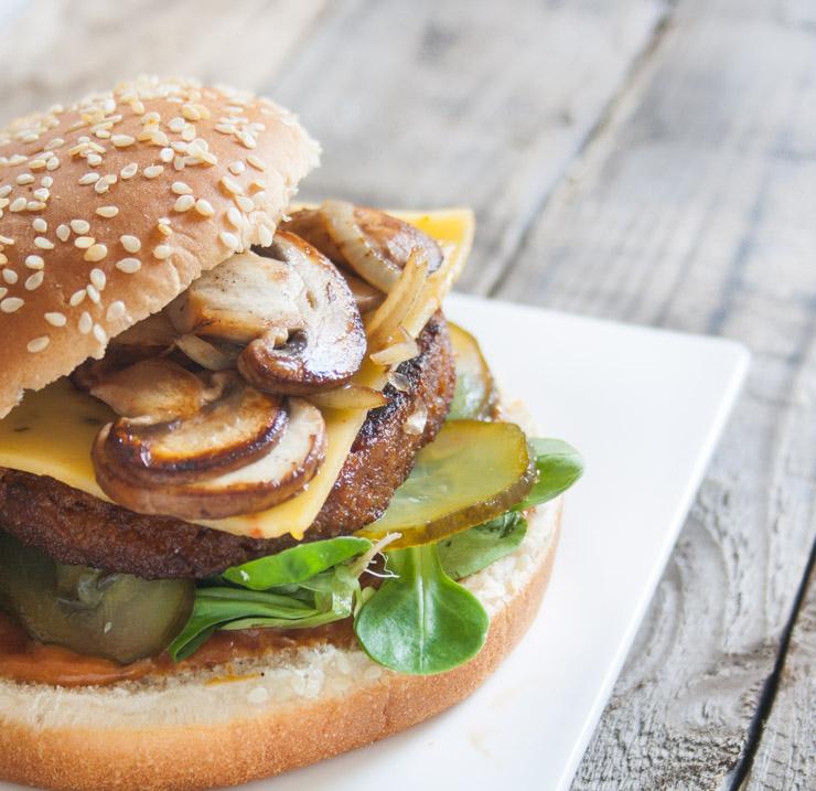 BBQ-Burger mit Champignons - The Vegetarian Diaries