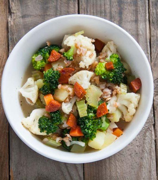 Dinkel-Gemüse-Eintopf - The Vegetarian Diaries