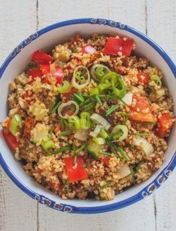 veganer Couscous-Salat als perfekte Grillbeilage - The Vegetarian Diaries