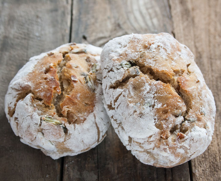 Frühstücksbrötchen mit Kürbiskernen - The Vegetarian Diaries