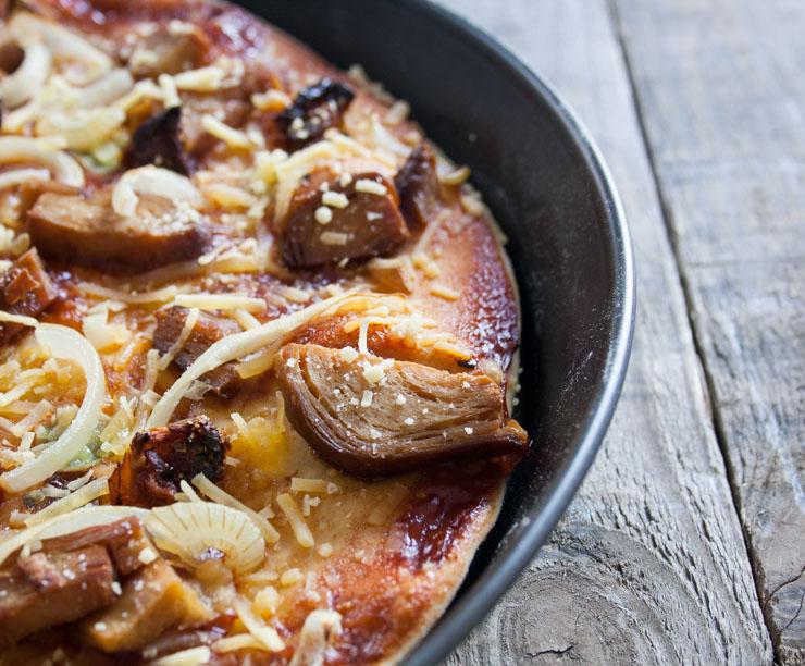 Rezept - BBQ-Pizza mit veganer Ente - The Vegetarian Diaries