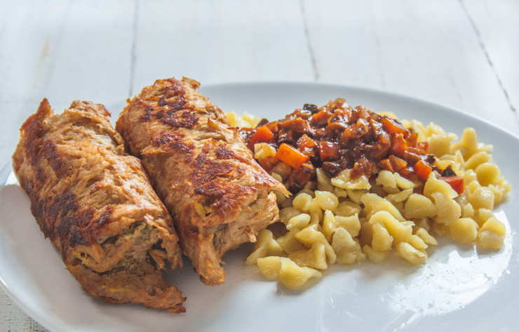 Rezept - vegane Rouladen mit Spätzle - The Vegetarian Diaries