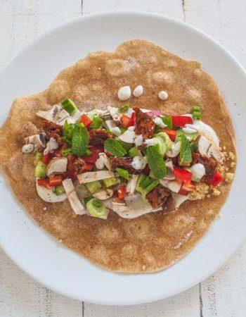 Wraps mit Couscous und Minzjoghurt - The Vegetarian Diaries