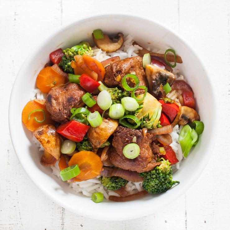 Rezept mit Veggie-Hähnchenbällchen - The Vegetarian Diaries
