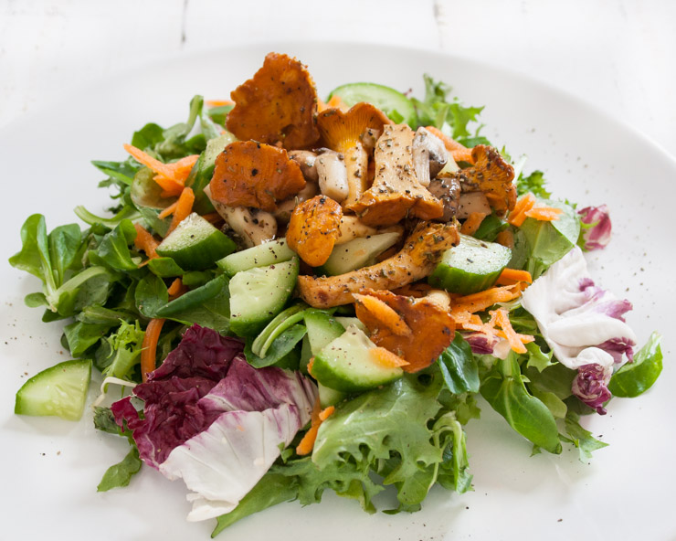 Salat mit Pfifferlingen - The Vegetarian Diaries