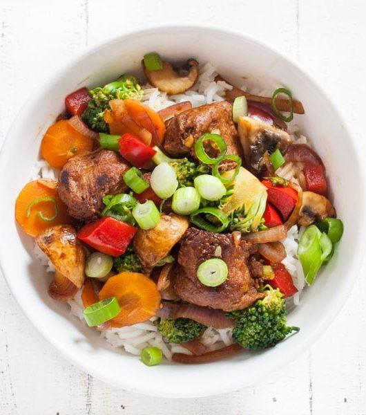Veggie-Hähnchenbällchen mit Gemüse - The Vegetarian Diaries