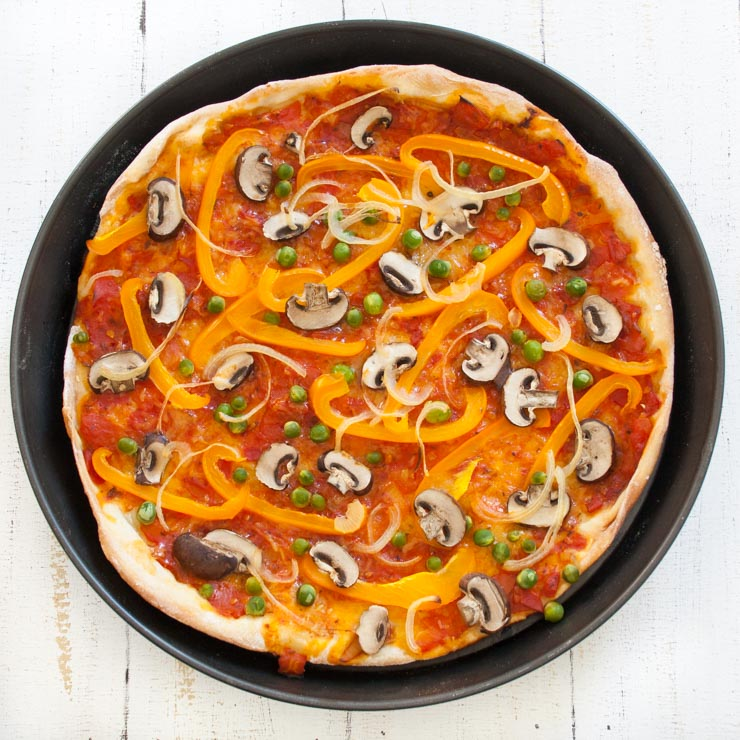 bunte Gemüsepizza - The Vegetarian Diaries