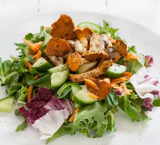 veganer Salat mit Pfifferlingen - The Vegetarian Diaries