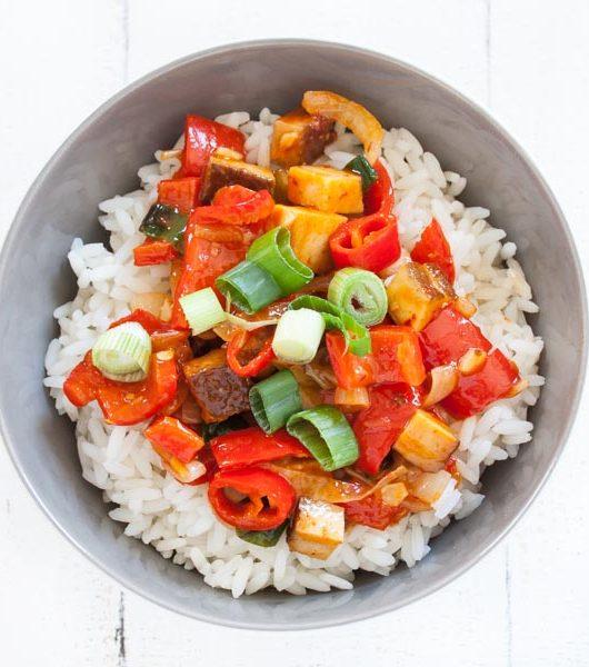 Kung Pao Tofu - The Vegetarian Diaries