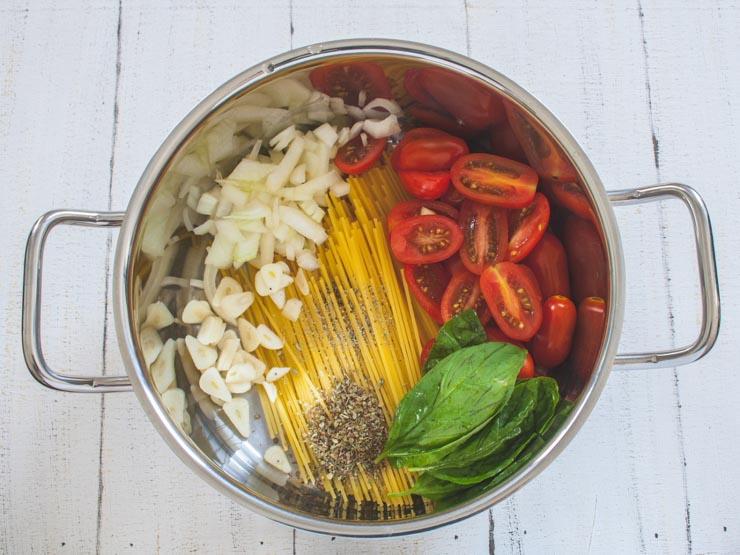 One Pot Pasta nach Martha Stewart - Schnell und einfach - The Vegetarian Diaries