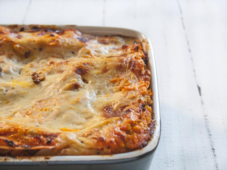 vegane Kürbis-Linsen Lasagne - The Vegetarian Diaries