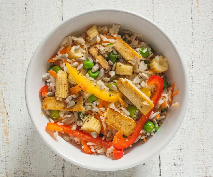 Rezept für Reis mit gebratenem Tofu - The Vegetarian Diaries