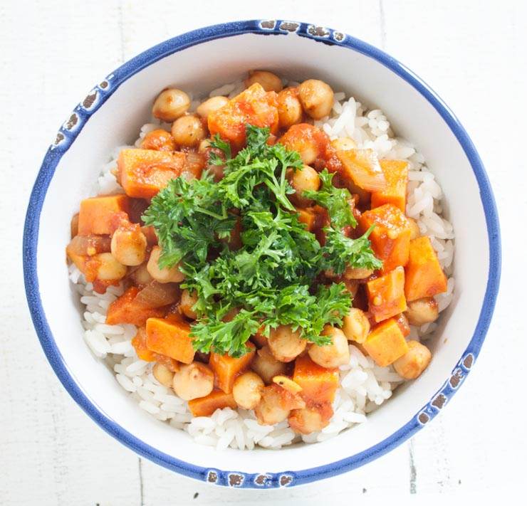 veganes Kichererbsen-Curry - The Vegetarian Diaries