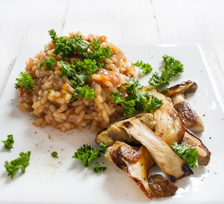 Rezept - veganes Steinpilz-Risotto - The Vegetarian Diaries