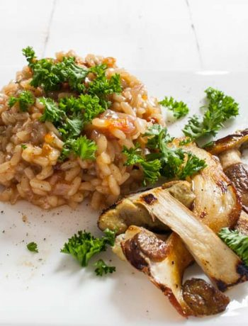 veganes Steinpilz-Risotto - The Vegetarian Diaries