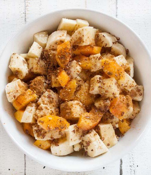 Hirsefrühstück mit Aprikose und Banane - The Vegetarian Diaries